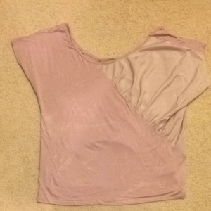 Charlotte Russe Top Taupey Blush Pink