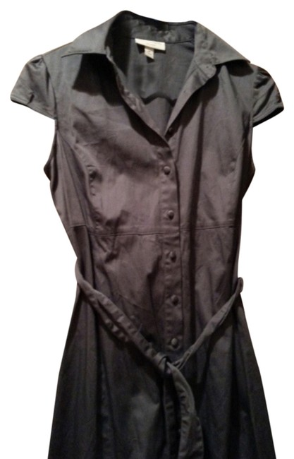 Item - Grey Button Front Maternity Dress Size 4 (S, 27)