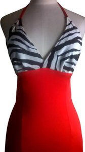 Lisa Nieves Prom Animal Print Zebra Dress
