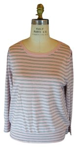 J.Crew Striped Wool Merino Wool Pink Blush Sweater