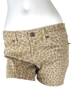 Rich & Skinny Leopard Animal Print Cut Off Shorts leopard print