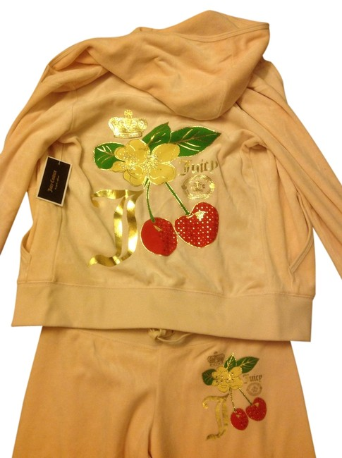 Juicy Couture Peach Cocoa Butter Regal Cherry Velour Pant Tracksuit Sweatshirt Hoodie Size 0 Xs Tradesy