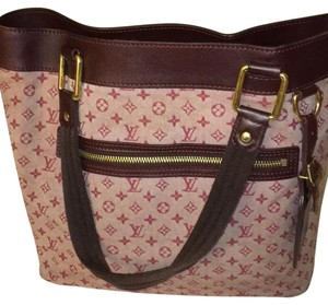 Louis Vuitton Monogram Canvas Tote in Red/Burgundy
