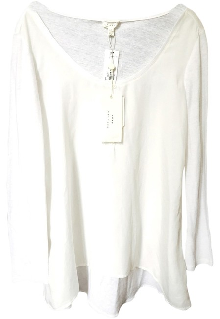 Joie Soft Sleeve Long Sleeves Top Off White