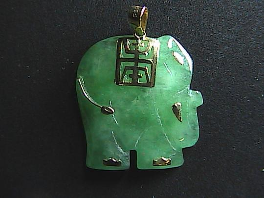 Other 14k Yellow Gold Good Luck Elephant Pendant