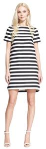 Kate Spade short dress Black and White Stripes Striped Shift on Tradesy