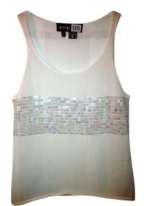 Saks Fifth Avenue Top Cream with Sequins