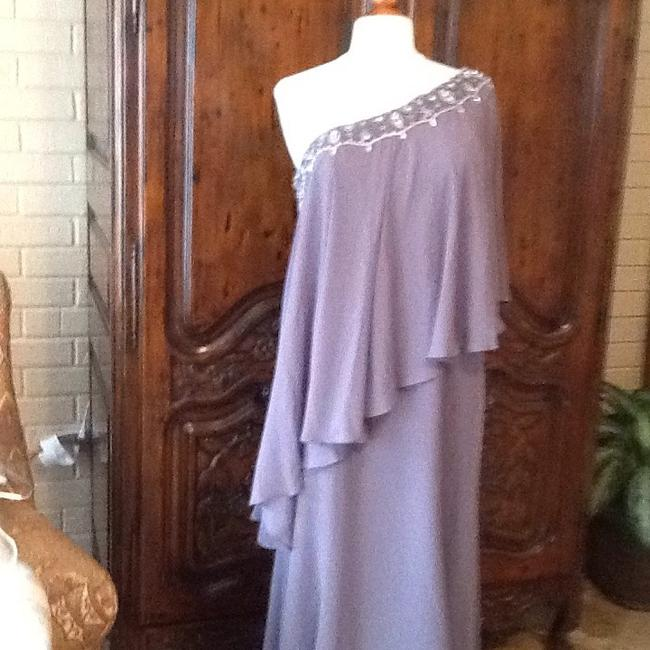 Item - Charcoal Chiffon Formal Bridesmaid/Mob Dress Size 14 (L)