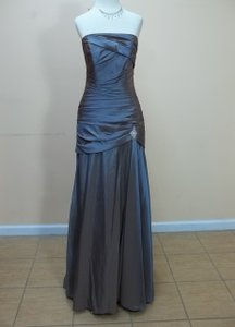 Impression Bridal Copper Taffeta 1639 Formal Bridesmaid/Mob Dress Size 12 (L)