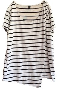 Ann Taylor T Shirt Black and White