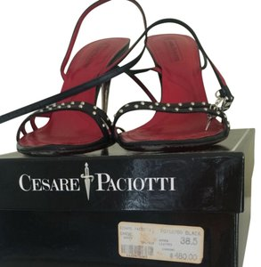 Cesare Paciotti Black Sandals