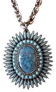 Other TURQUOISE ZUNI PENDANT SILVER NECKLACE, MINTY!
