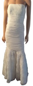 Betsy & Adam Mermaid Tulle Fitted Prom Wedding Dress