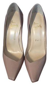 Christian Louboutin Patent Patent Leather Luxury Beige Pumps