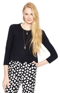 Kate Spade Scallop Crop Top Black