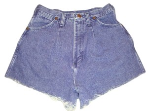 Wrangler Vintage Riata Purple Leather Tag High Waist Size 8 Denim Shorts-Acid