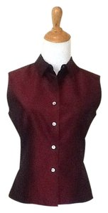 Casual Corner Top Burgundy Purple