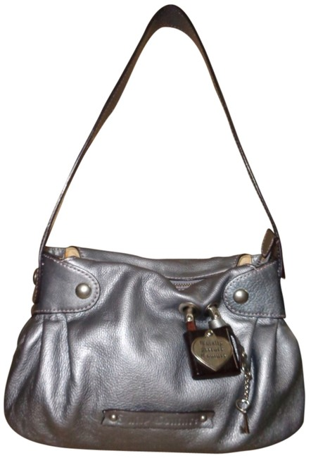 Item - Totally Secure Purse Silver Gray Leather Shoulder Bag
