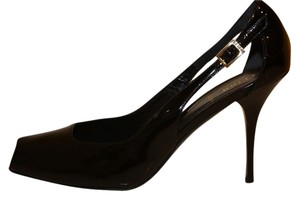 Fendi Patent Leather Slingback Black Pumps