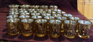 Silver Mercury Glass Holders Votive/Candle