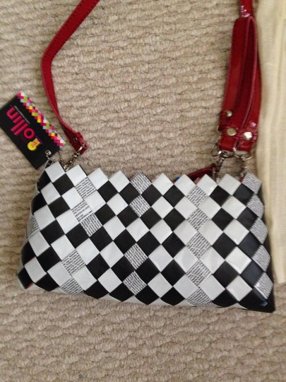 Other Wristlet in Black, white and red