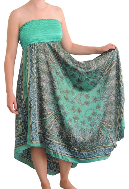 Item - Green Long Casual Maxi Dress Size OS (one size)
