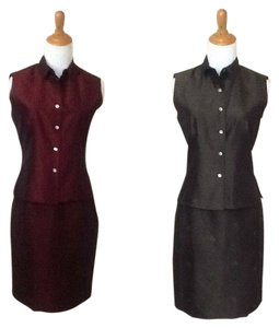 Casual Corner Silk tops and skirts OUTFITS