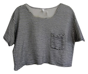 American Apparel T Shirt Natural black stripe