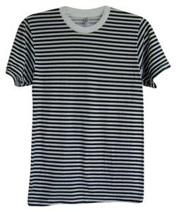 American Apparel T Shirt Black white stripe