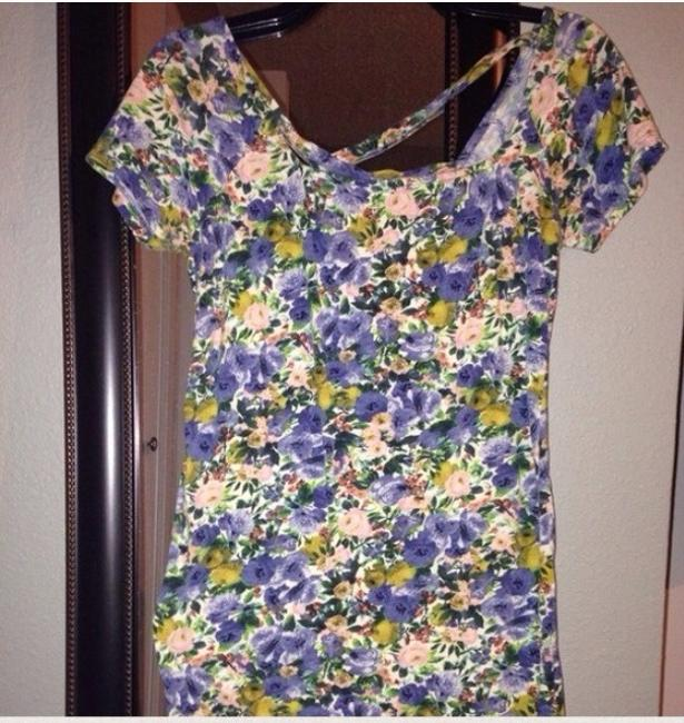 Zara short dress Blue on Tradesy