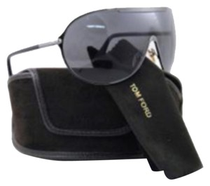 Tom Ford Tom Ford Rex TF 101 Large Aviator Shield Wrap Sunglasses With Case