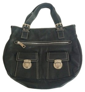 Marc Jacobs Calfskin Leather Tote in Black