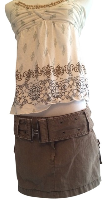 Hollister Skirt Army Brown