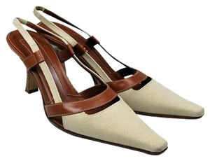 Sergio Rossi Beige, brown Pumps