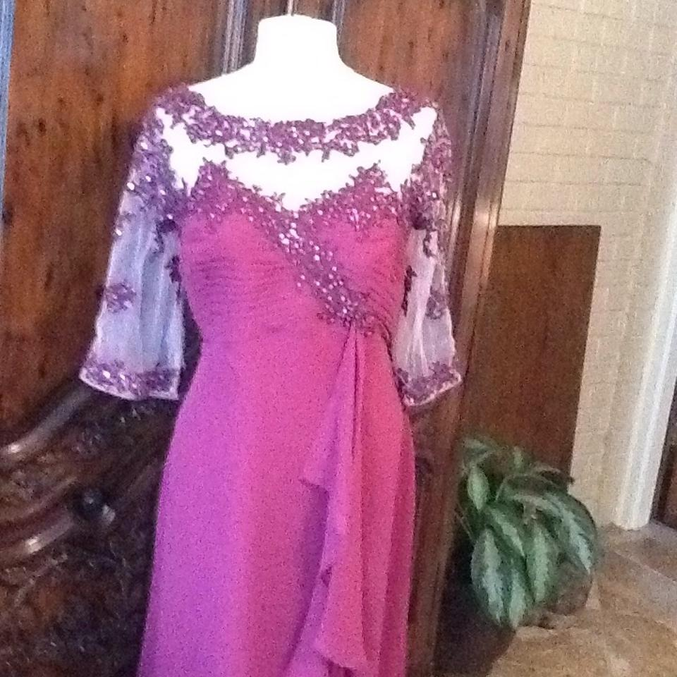 Alfred Angelo Cameo/Berry Crepe Formal Bridesmaid/Mob Dress Size 18 ...