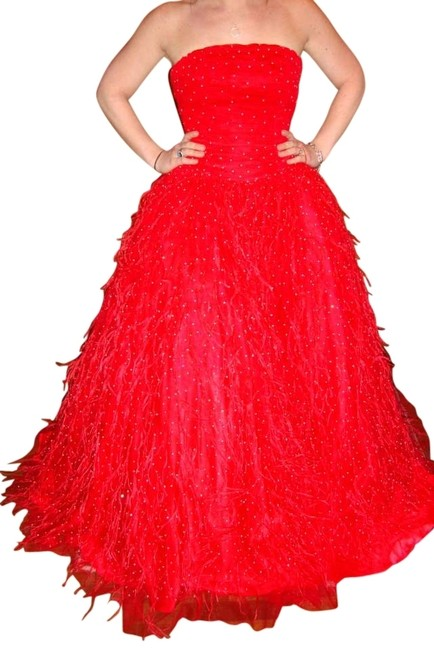 Preload https://img-static.tradesy.com/item/127739/red-strapless-princess-gown-style-6632-strapless-tulle-iridescent-beads-and-sequins-with-of-long-for-0-0-650-650.jpg