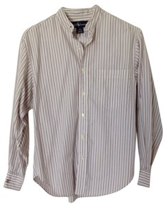 Ralph Lauren Button Down Shirt White/Grey/Crimson