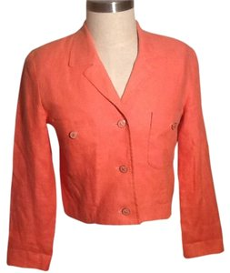 Clifford & Wills Linen Shoulder Pad Coral/Peach Jacket