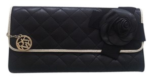 DKNY Quilted Leather Black Clutch