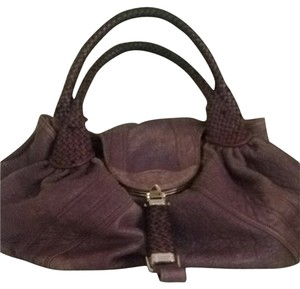 Fendi Satchel in Purple With Gray Undertones