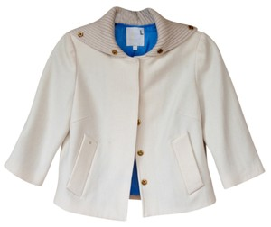 Rosasen Wool Collar Unique off-white Jacket