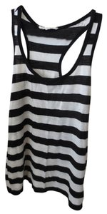 Charlotte Russe Top Black and White Stripes