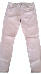 Gap Pink High Waisted Skinny Jeans-Light Wash