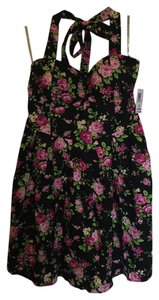 No Boundaries short dress Black and pink Halter on Tradesy