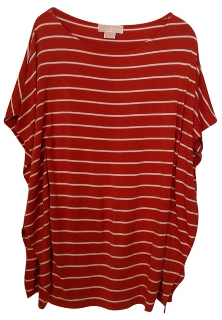 Item - Burnt Orange with White Stripes Tunic Size OS (one size)