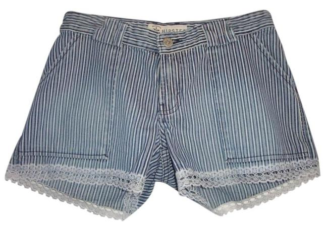 Preload https://item2.tradesy.com/images/blue-distressed-railroad-stripe-lace-trim-indie-low-rise-lacey-denim-shorts-size-26-2-xs-1277946-0-0.jpg?width=400&height=650