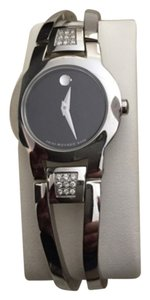 Movado Amorosa Stainless Diamond Bangle Watch
