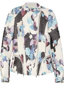 3.1 Phillip Lim Floral Corded Silk Biker Motorcycle Jacket