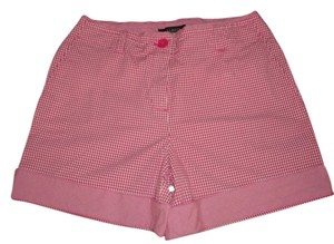 Talbots Red Gingham Women High Waist Size 8 Shorts