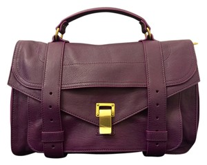 Proenza Schouler Ps1 Purple Satchel in Grape Jam